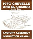 1970 CHEVROLET CHEVELLE EL CAMINO Assembly Manual Book