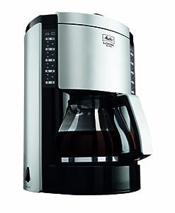 Melitta Look Deluxe Filter Coffee Machine Black/Silver