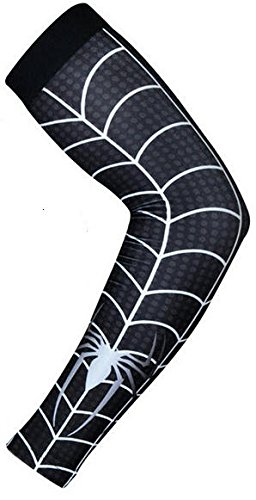 Baseball Sports Compression Arm Sleeve (X-Large) - Black Spiderman