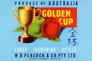 Paper poster printed on 20 x 30 stock. Golden Cup
