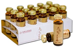 Cordyceps Sinensis Liquid Pure Extract - 25 g/L of polysaccharides per serving - SGS Certified, cGMP Certified, Guaranteed Authentic, 99.6% rDNA Proven Genuine - 30 bottles, 20ml per bottle - Made in Taiwan