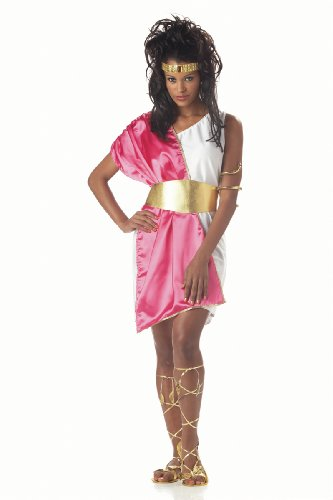 California Costumes Women'S Toga Woman,White/Fuchsia,One Size Costume front-89401