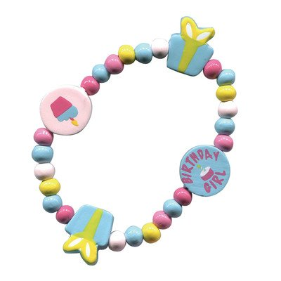 Sassafras / Wooden Bead Bracelet, Birthday Girl