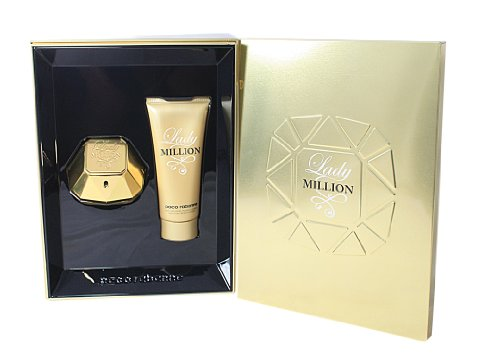 Paco Rabanne, Lady Million, Set regalo, incl. Eau de Parfum da donna, 50 ml + Crema corpo, 100 ml