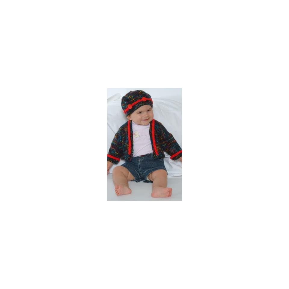 47353970a5f0 Plymouth Jelli Beenz Yarn Pattern  P505 Baby Sweater and Hat on ...