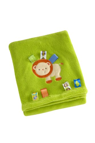 Taggies Appliqued Coral Fleece Blanket, Fun In The Jungle (Lion) front-561586