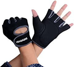 FINEJO Sport Cycling Fitness GYM Half Finger Weightlifting Gloves Gray