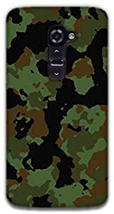 The Racoon Lean Military camouflage hard plastic printed back case / cover for LG G2