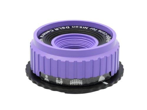 Holga Objektiv für Nikon D300 D200 D100 D90 D80 D70s D70 Violett + 0.5X Weitwinkel