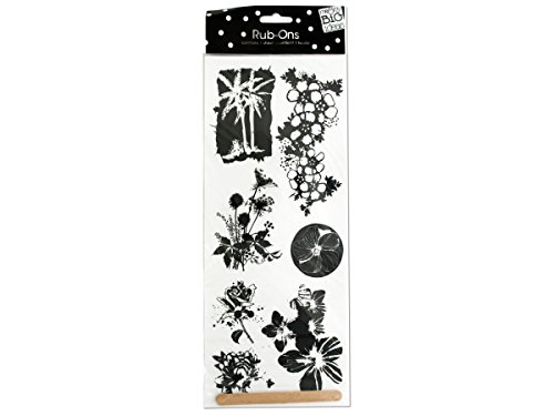 Me & My Big Ideas 14 Inch by 5 Inch Rub-Ons Sheet, Coastal Flowers