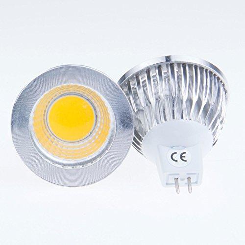 Lemonbest® Bright Mr16 Epistar Cob Led Chip 6W Soft Warm White Led Spotlight Bulb Flood Lamp 60 Degree Beam 12 Volt Standard Size, Pack Of 2