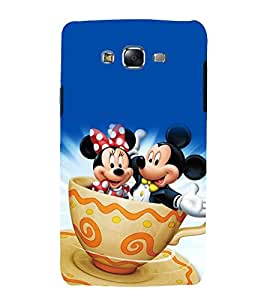 printtech Mickey Minnie Mouse Back Case Cover for Samsung Galaxy J5 / Samsung Galaxy J5 J500F