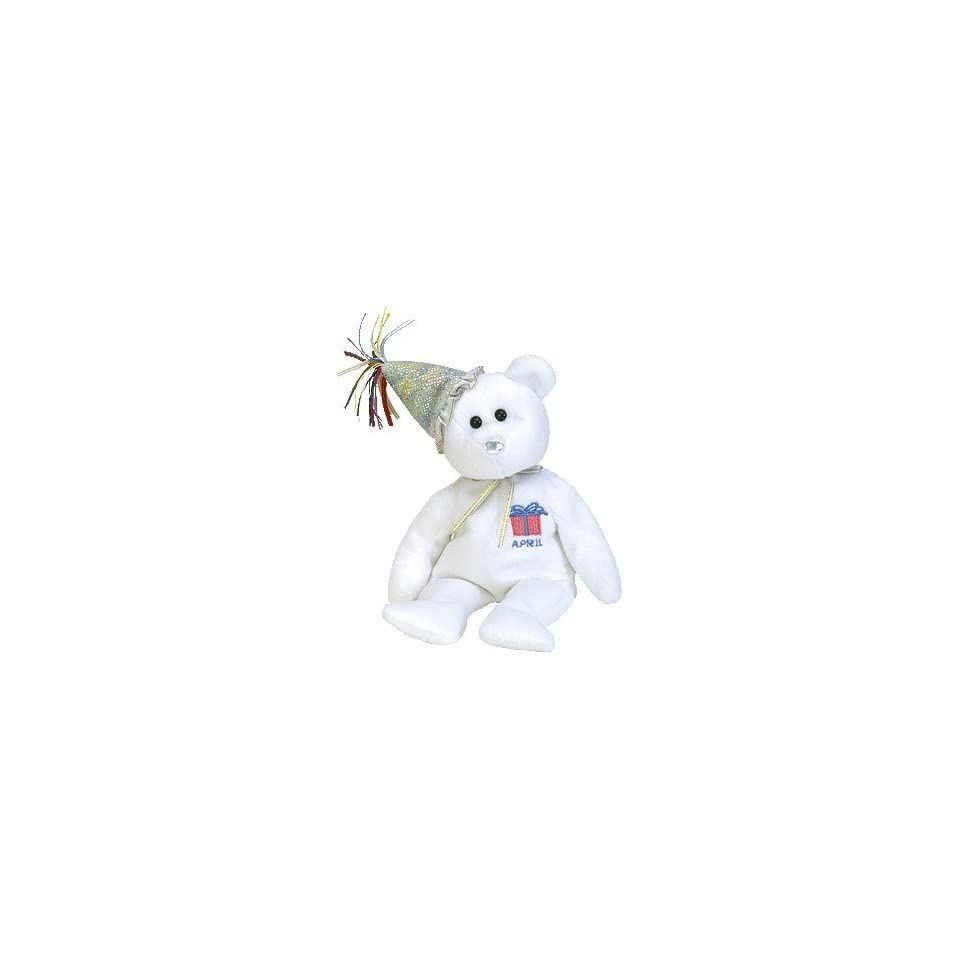 f4706a2ea45 Ty Beanie Babies April the Birthday Bear W hat Retired on PopScreen