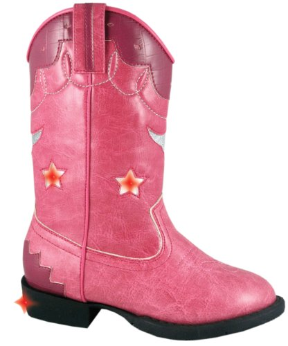 Smoky Mountain 1167 Girl'S Austin Lights Boot Pink Child'S 10.5 M Us
