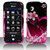LG Prime GS390 Cell Phone Purple Love Protective Case