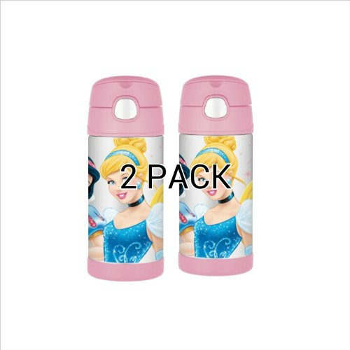 Thermos Funtainer Bottle, Disney Princess, 12 Ounce (2 Pack) front-964433
