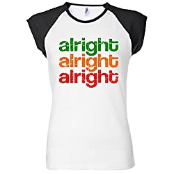 Alright Alright Alright Retro Women's Raglan T-Shirt