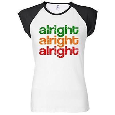 Alright Alright Alright Retro Women's Raglan T-Shirt