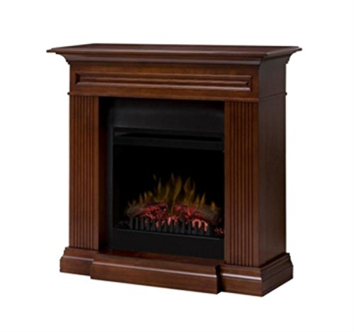Dimplex Dfp20-1315Wn Branagan Fireplace Traditional Mantel With Faux Log Insert, Walnut