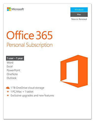 Microsoft Office 365 Personal - 1 User - 1 Year Subscription (PC/Mac) [Download]