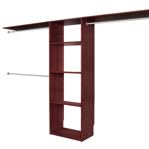 Solid wood closets c16chy 16 inch depth closet organizer system cherry closet design for - Hardwood closet organizers ...