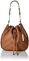 Vince Camuto Rayli Drawstring Shoulder Bag, Hazelnut Brown, One Size