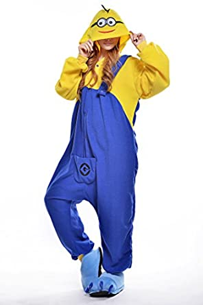 Cute Mr.minions Smile Eye Pajamas Cosplay Homewear One Piece Costume