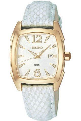 Seiko Women&#8217;s Casual Leather Watch