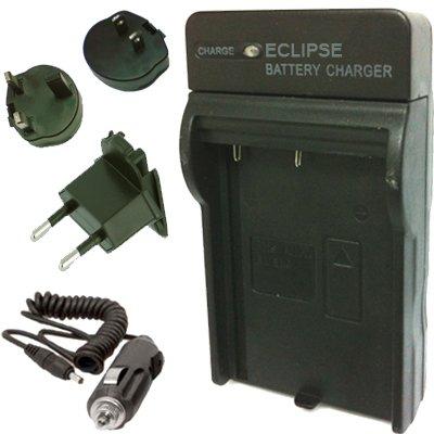Eclipse NB-11L Ladegerät für Canon Akku für die Modell-Kamera PowerShot ELPH 240 HS A3400 ist, A2400 ist, A4000 ist A2300, ELPH 150 HS, IXUS 125 HS, IXUS 110 HS, IXUS 240 HS, ELPH 320 HS mit EURO UK USA Reise-Stecker und AC Auto-Adapter