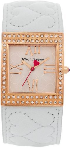 Betsey Johnson Women's BJ00079-03 White Bangle Bracelet Watch