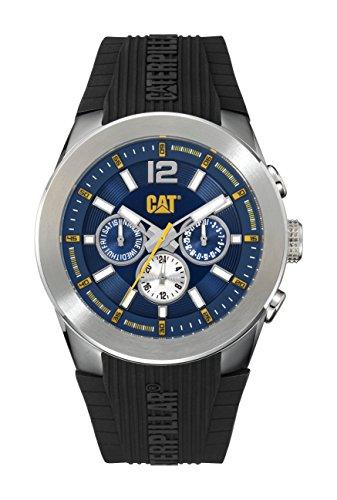Gatto orologi da uomo ab14921632T7Multi Display analogico al quarzo nero orologio