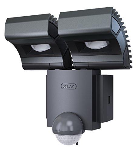 OSRAM-Noxlite-Spot-LED-Auenlampe-mit-Bewegungsmelder-und-Dmmerungssensor-Khlkrper-aus-hochwertigem-Aluminium-2-x-8W-6000K-kaltwei-anthrazit