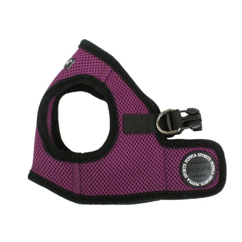 Puppia Soft Vest Harness B - Purple XS (Chest 10.5-11.3