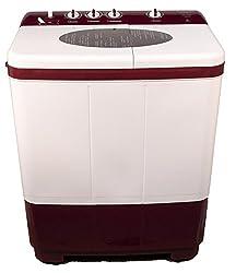 Kelvinator KS7253DM Semi-automatic Top-loading Washing Machine (7.2 Kg, Maroon)