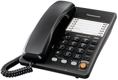 Panasonic KX-TS105B Integrated Business Corded Phone, Black