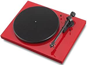 Pro-Ject Debut III Turntable In Red with Ortofon OM-5 Cartridge