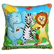 Swayam Kids N More Digital Print Mercerised Cotton 2 Piece Kids Cushion Cover Set - Multicolor (KCC 122-105)