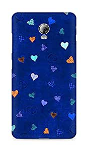 Amez designer printed 3d premium high quality back case cover for Lenovo Vibe P1 (Texture heart colorful)