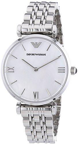 Emporio Armani  - Reloj de cuarzo para mujer, correa de acero inoxidable