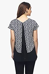 Curly Women's black and white Zebra Top