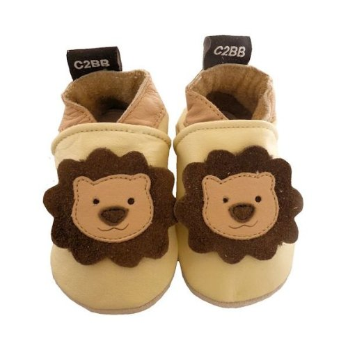 C2BB - Soft leather baby shoes boys | Little lion Size: 18-24 m