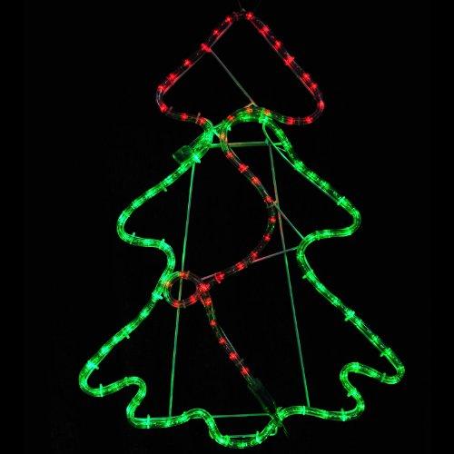 HomCom Lighted Christmas Tree LED Indoor / Outdoor Holiday Light Decoration