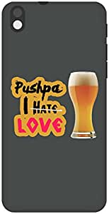 The Racoon Lean I Love Beer hard plastic printed back case / cover for HTC Desire 816