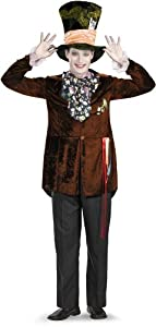 Disguise Men's Mad Hatter Deluxe (Movie),Multi,XL (42-46) Costume