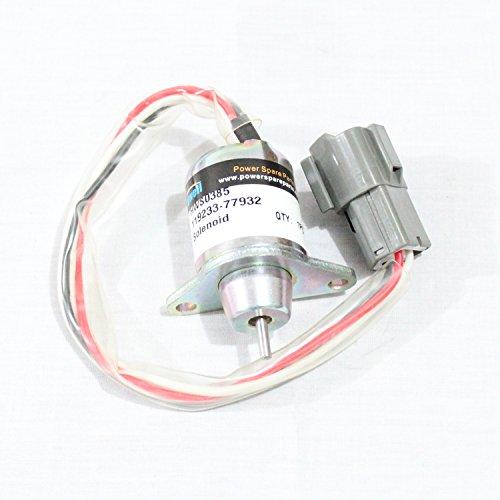 Holdwell Solenoid 119233-77932 For John Deere Tractor Yanmar Fuel Shutdown Solenoid