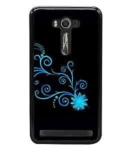 printtech Floral Pattern Wine Back Case Cover for Asus Zenfone Selfie , Asus Zenfone Selfie ZD551KL
