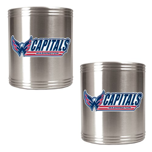 NHL Washington Capitals Two Piece Stainless Steel Can Holder Set (Washington Capitals Beer Koozie compare prices)