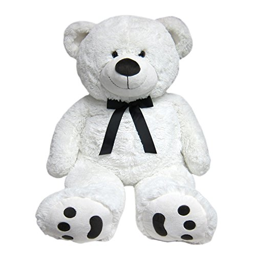 JOON-Huge-Teddy-Bear-With-Ribbon-Tuxedo-Edition-White