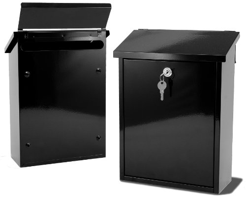 LIFFEY- Large Capacity Black Rear Posting Slot For Gates/Fence Mailbox Postbox Letterbox