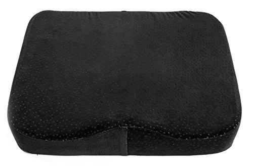 memory foam seat cushion luxury large office chair pad with a buckle to prevent sliding by. Black Bedroom Furniture Sets. Home Design Ideas